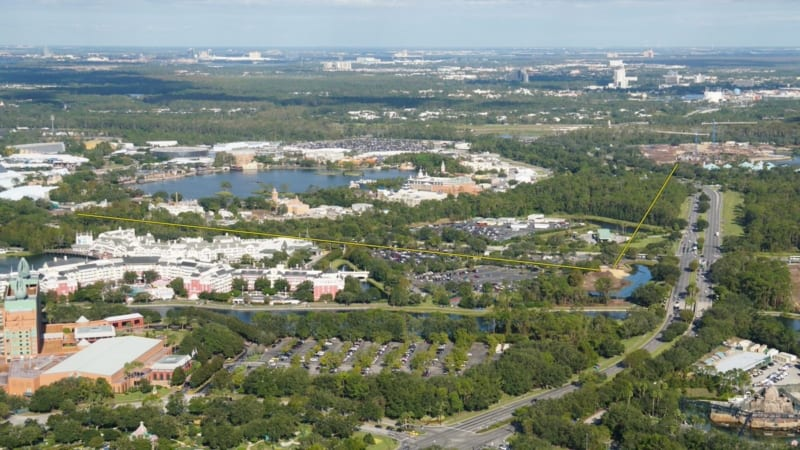 Disney Skyliner Construction Update November 2017 Riviera Resort to Epcot