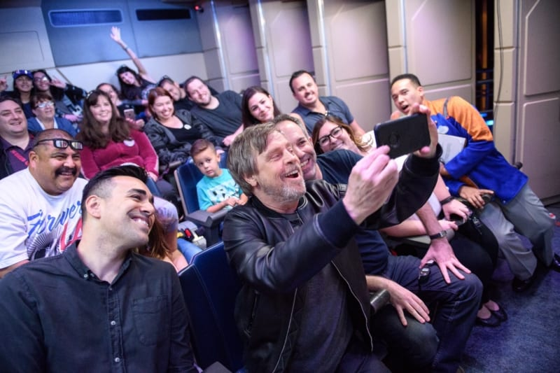 Mark Hamill Rides Star Tours The Adventures Continue in Disneyland