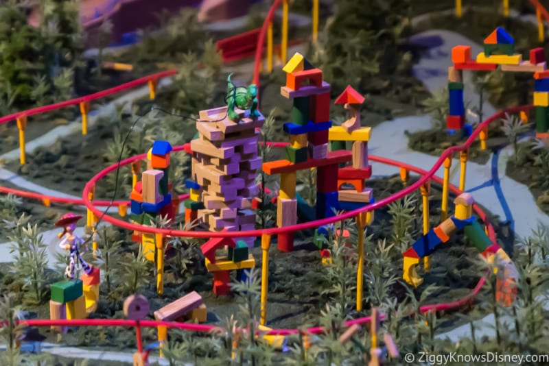 rex Jesse toy story land in model