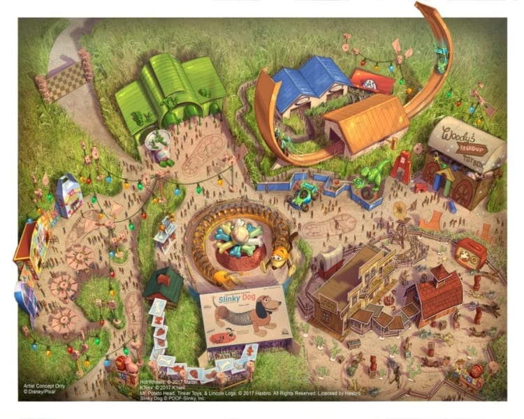 Toy Story Land Concept Art Shanghai Disneyland