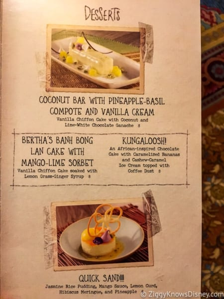 Skipper Canteen Review Dessert Menu