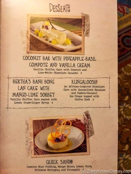 Skipper Canteen Review Dessert Menu