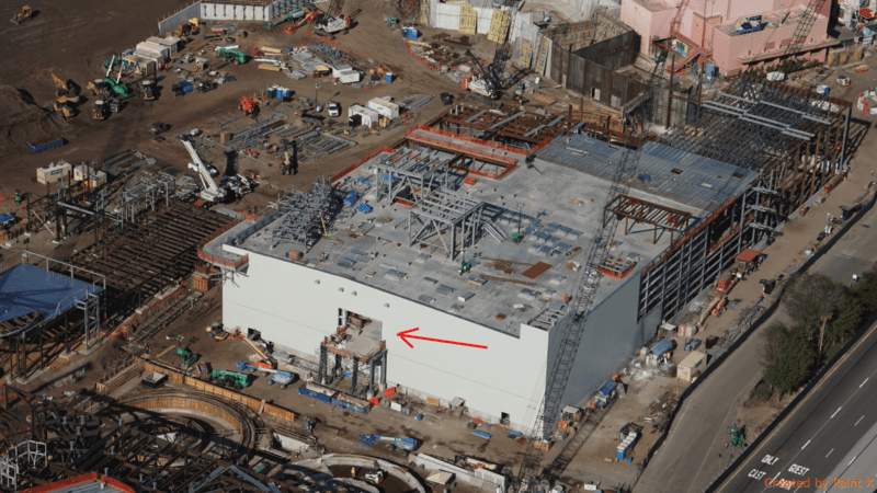 Galaxy's Edge construction update November 2017 Battle Escape 2nd floor