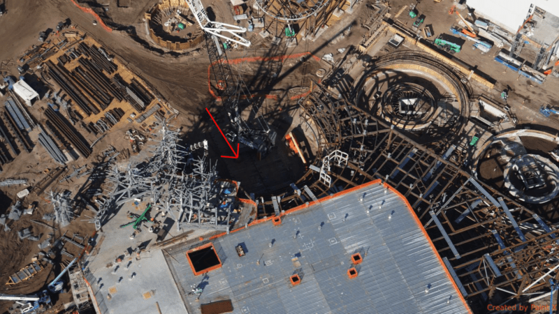 Galaxy's Edge construction update November 2017 Millennium Falcon Entrance