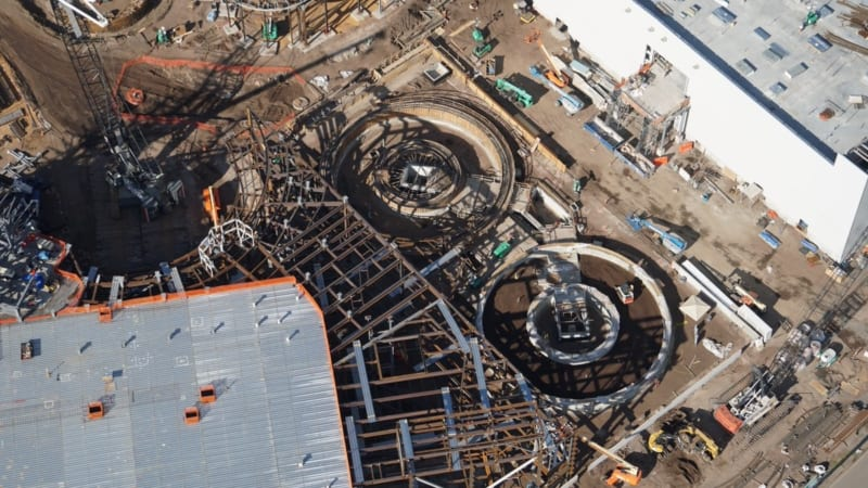 Galaxy's Edge construction update November 2017 Millennium Falcon ride