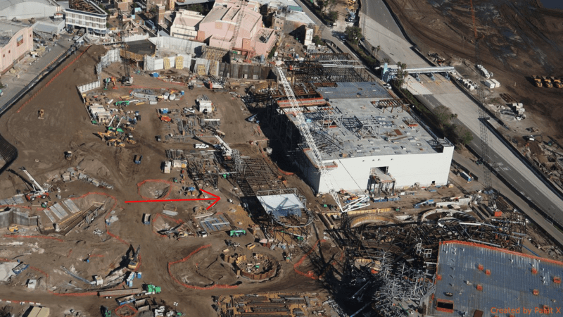 Galaxy's Edge construction update November 2017 New Building