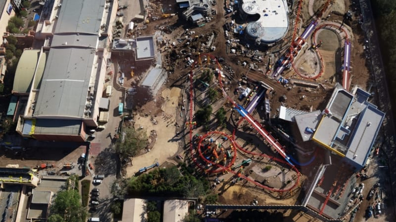 Toy Story Land Construction Update November aerial shot