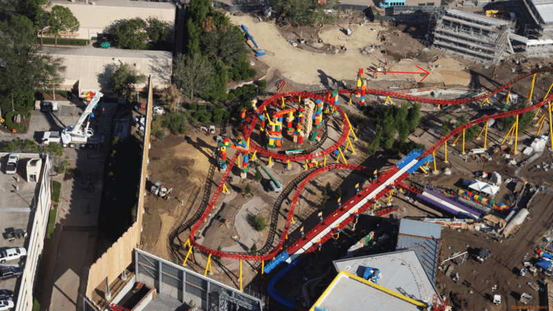 Toy Story Land Construction Update November slinky dog dash footprint