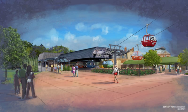 New Disney Skyliner Concept Art Released epcot