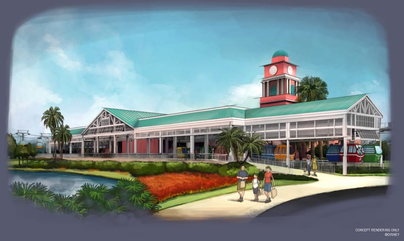 New Disney Skyliner Concept Art Released Caribbean beach