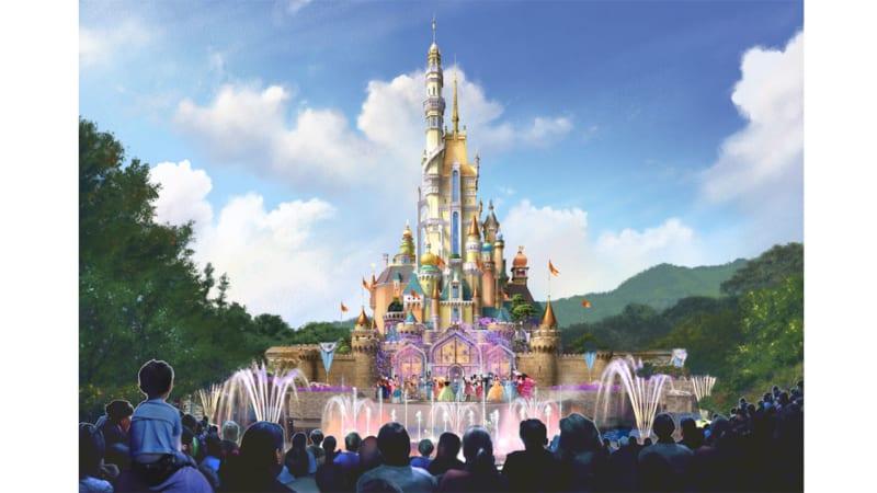 New Hong Kong Disneyland Castle