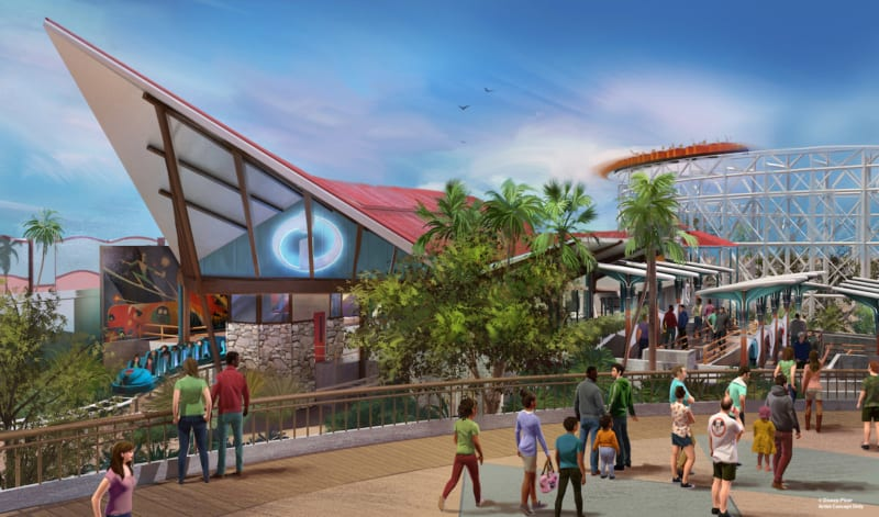 New Details for the Incredicoaster in Disney California Adventure