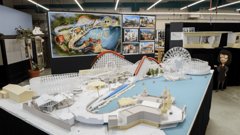 Model of Pixar Pier Revealed Showing Incredicoaster and other Attractions