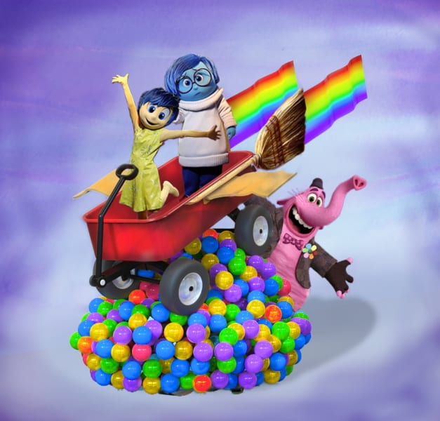 New Pixar Play Parade Floats Disneyland inside out