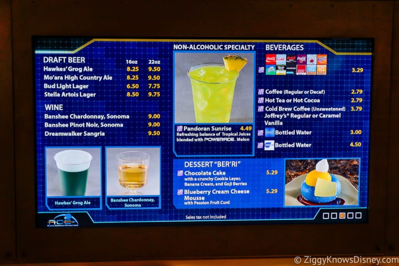 Satu'li Canteen Review Pandora drinks menu