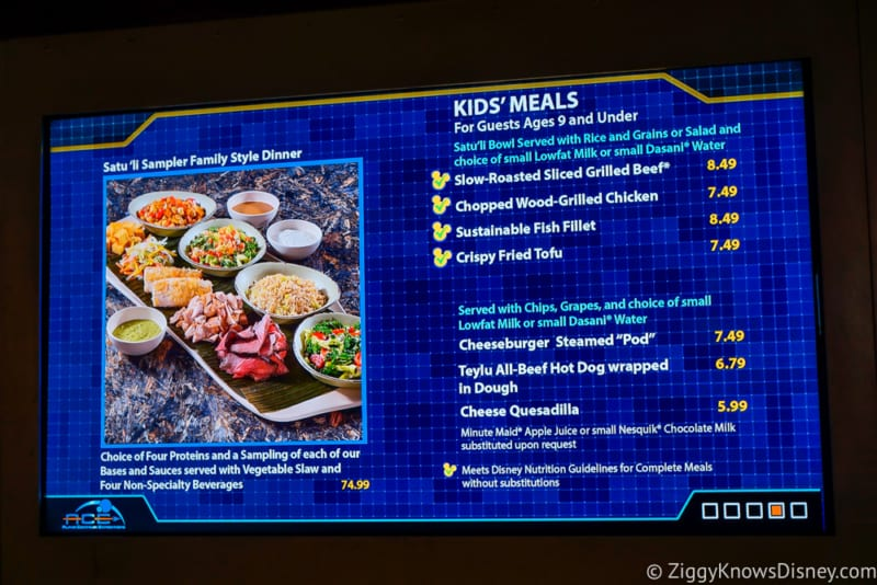 Satu'li Canteen Review Pandora kid's menu