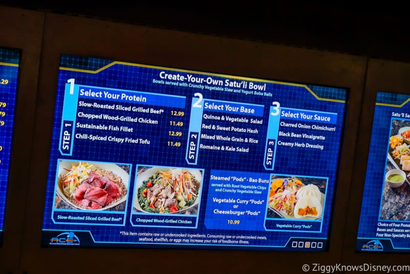 Satu'li Canteen Review Pandora menu