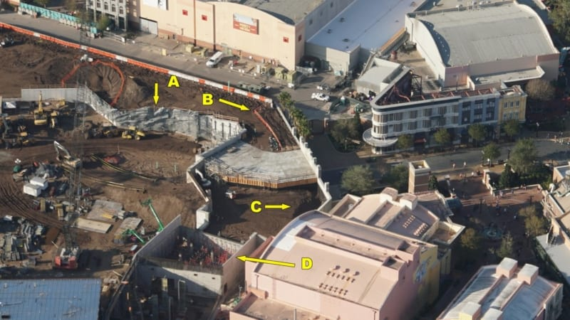 Galaxy's Edge construction update December 2017 tunnel