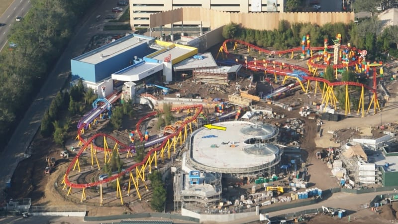 Toy Story Land Construction Update December slinky dog dash