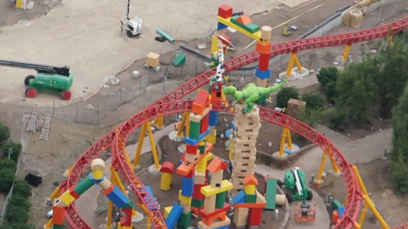 Toy Story Land Construction Update December rex and jessie