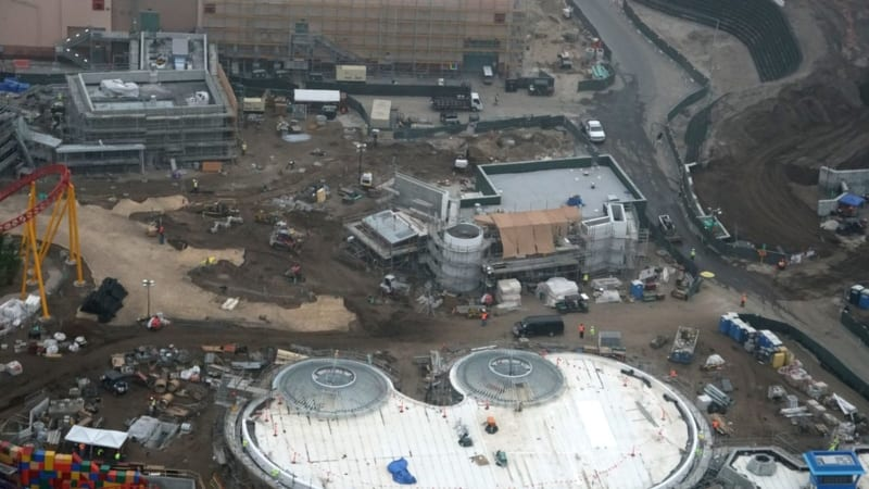 Toy Story Land Construction Update December woody's lunchbox