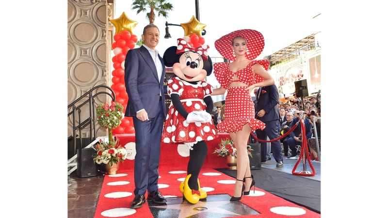Minnie Mouse Hollywood Walk of Fame bob Iger
