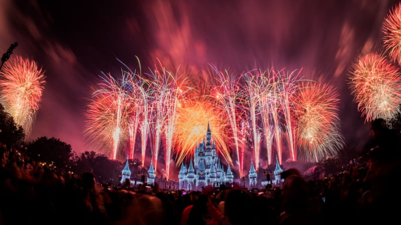 VIDEO: New Year's Even Fireworks from Disney's Magic Kingdom Live Stream