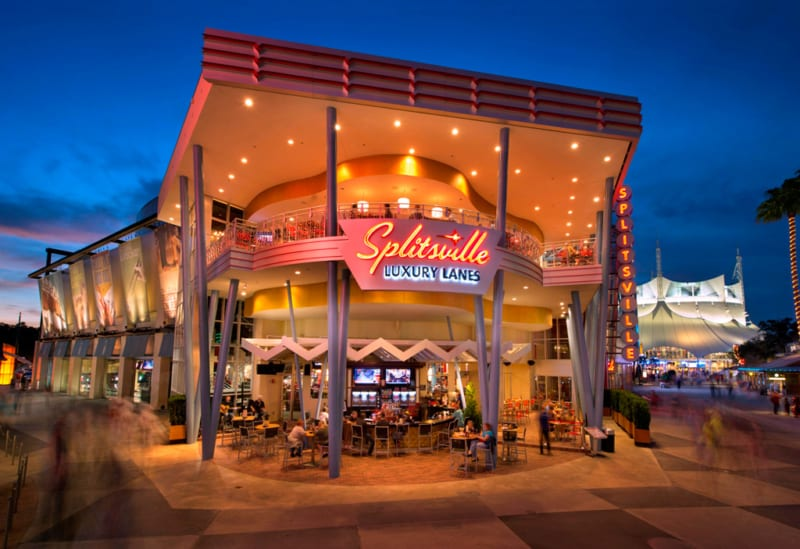 Splitsville Luxury Lanes Preview in Downtown Disney District