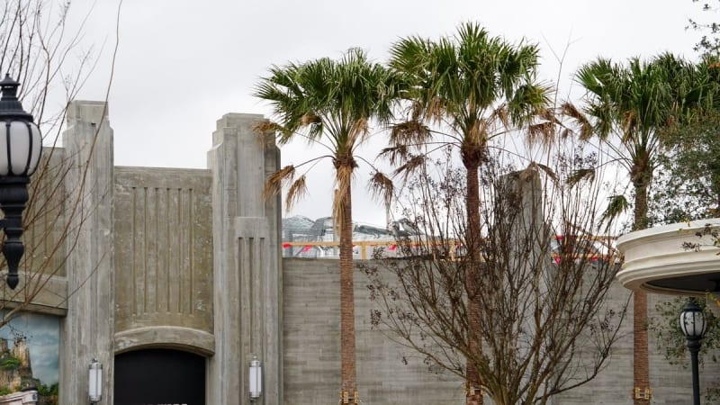Galaxy's Edge construction update January 2018 entrance