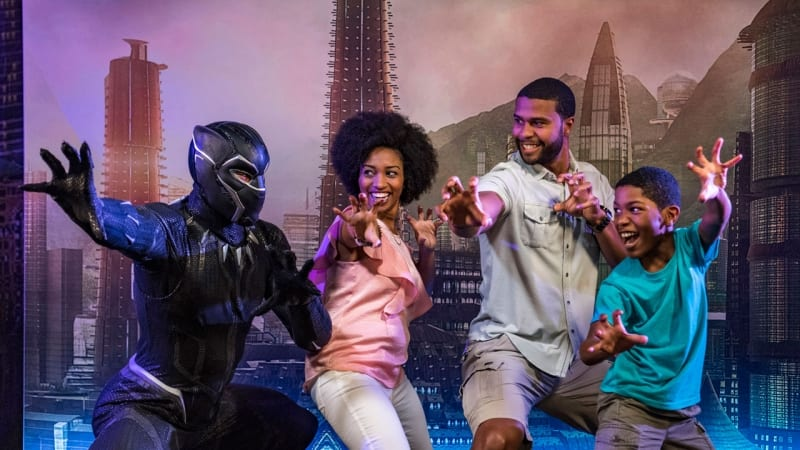 Black Panther Disney Cruise family photo