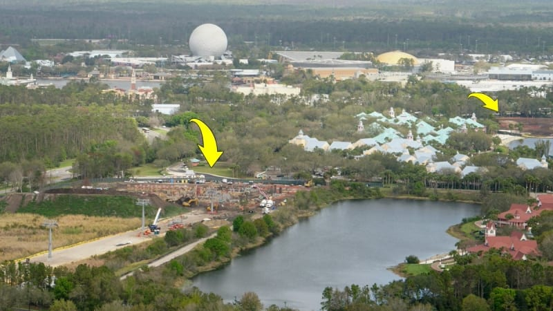 Disney Skyliner Stations Walt Disney World Caribbean beach
