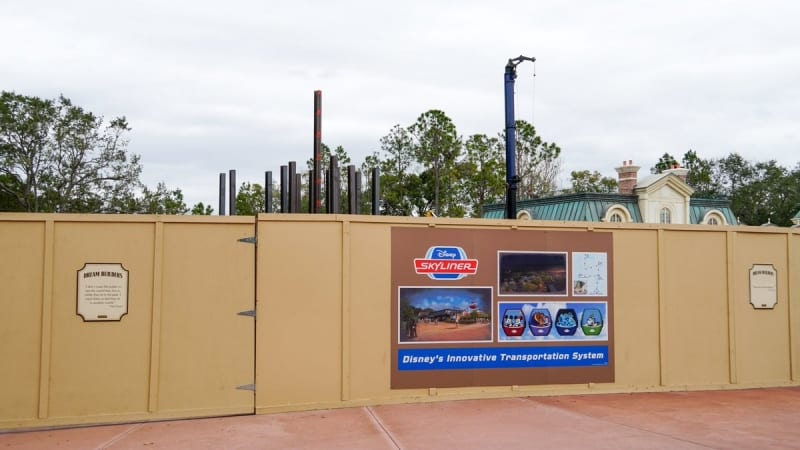 Disney Skyliner Construction Progress February 2018 epcot