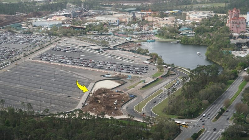 Disney Skyliner Stations Walt Disney World Hollywood studios parking