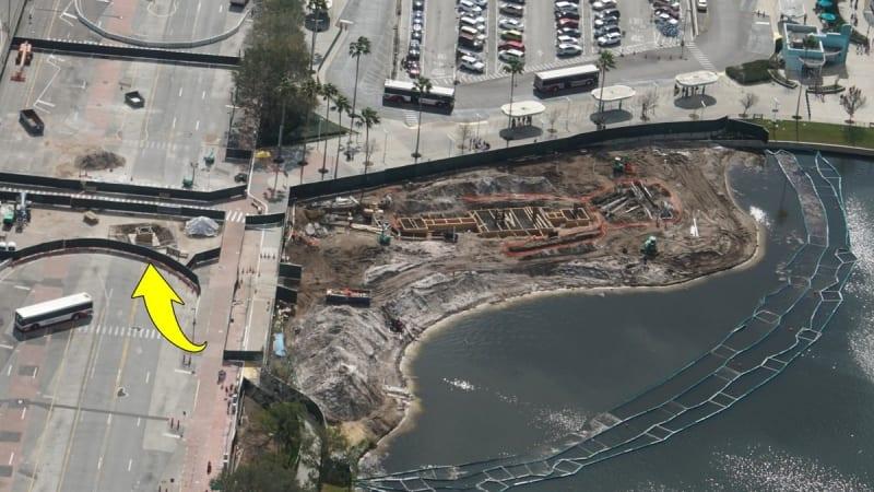 Disney Skyliner Construction Progress February 2018 Hollywood studios station