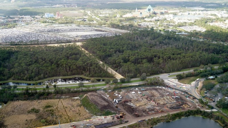 Disney Skyliner Construction Progress February 2018 Hollywood
