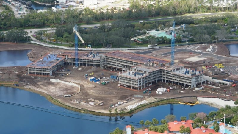 Disney Skyliner Construction Progress February 2018 riviera resort