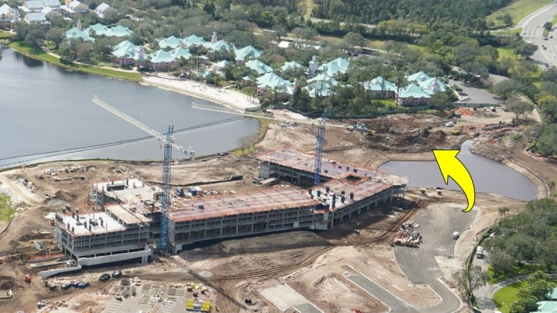 Disney Skyliner Construction Progress February 2018 riviera station