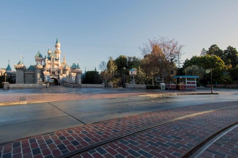 Disneyland Brickwork Main Street USA castle