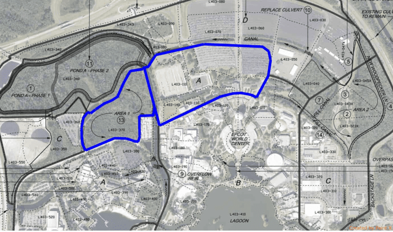 Epcot Hotel Location blue