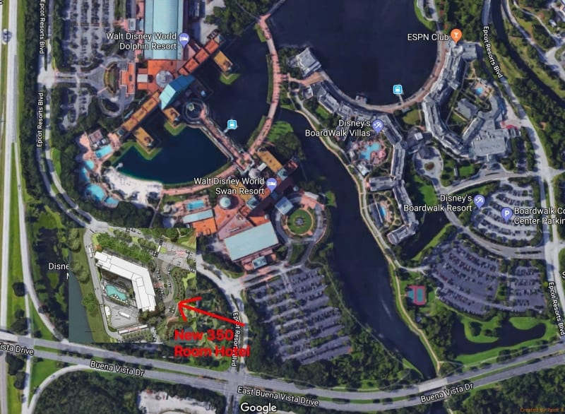 Walt Disney World 350 Room Hotel Details plans