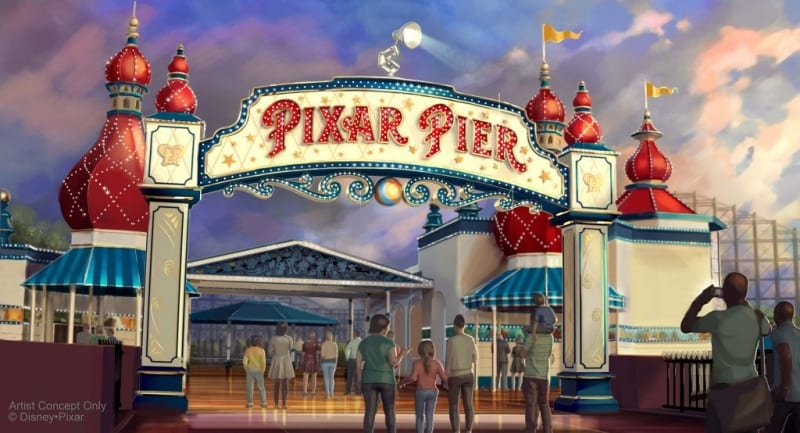 Pixar Pier Opening June 23 concept art
