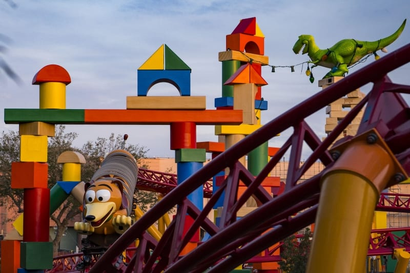 VIDEO: Slinky Dog Dash Coaster Running in Toy Story Land