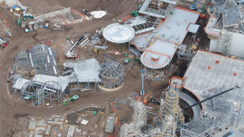 Galaxy's Edge construction update February 2018 buildings