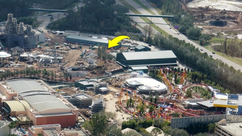 Galaxy's Edge construction update February 2018 trees