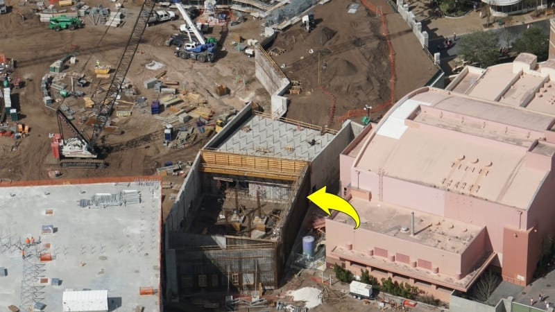Galaxy's Edge construction update February 2018 wall