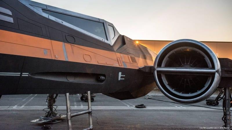 Disney Shows Off Star Wars Galaxy's Edge X-Wing in Development