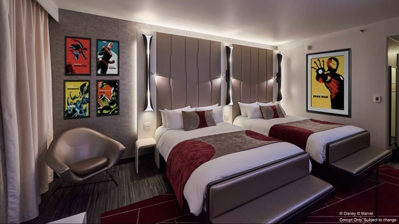 The Art of Marvel hotel New Details rooms