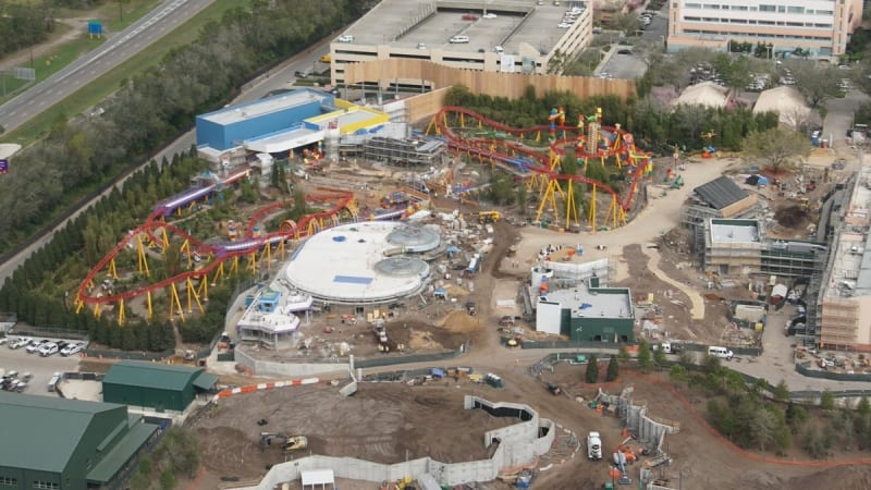 Toy Story Land Landscaping overhead view