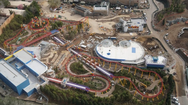 Toy Story Land Landscaping aerial view