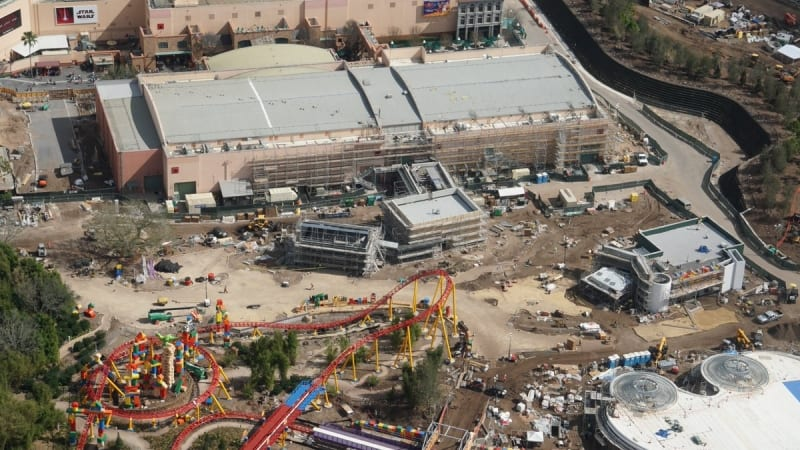 Toy Story Land Construction Update February midway mania